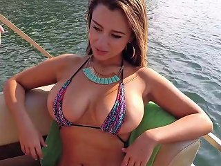 Pretty Bikini Clad Latina With A Nice Ass Sucking A Stranger's Big Cock On A Boat